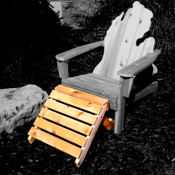 Footstool with Michigan Adirondack Chair