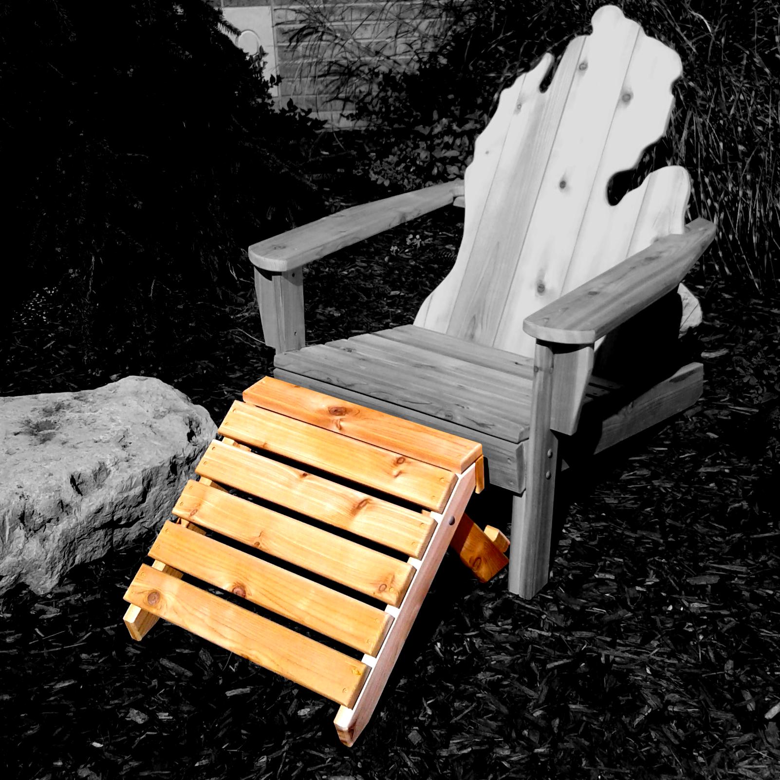 Footstool with Michigan Adirondack Chair